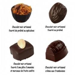 Assortiment de chocolat Noir