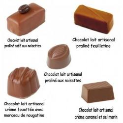 Assortiment chocolat au lait