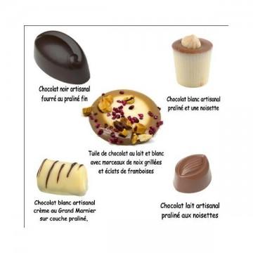 Assortiment des trois chocolats