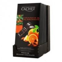 Chocolat noir, 57% de cacao, orange et amandes