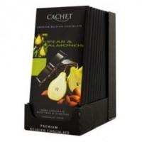 Chocolat noir, 57% de cacao, poire et amandes