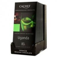 Chocolat noir, a 80% cacao d l'Uganda